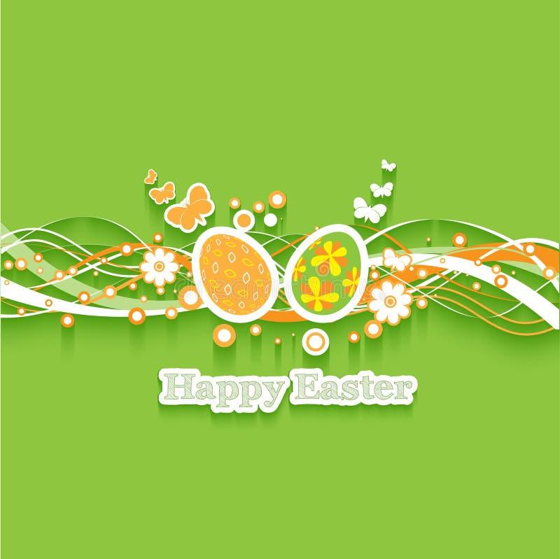 Easter egg background royalty free illustration
