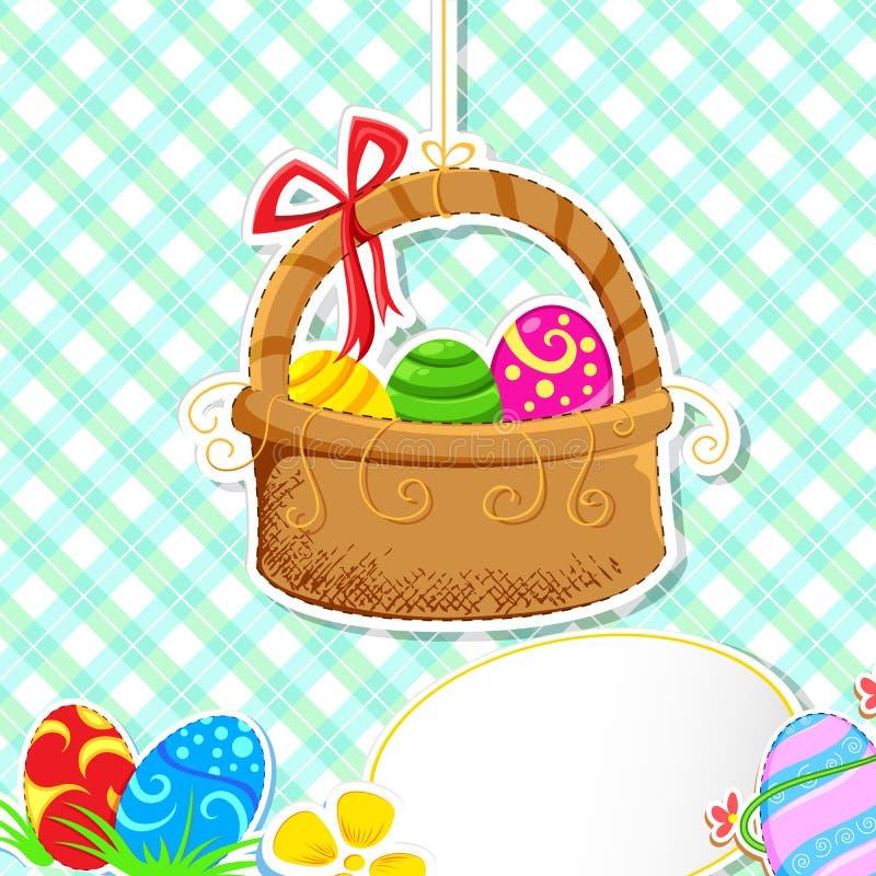 Easter Egg Basket vector illustration
