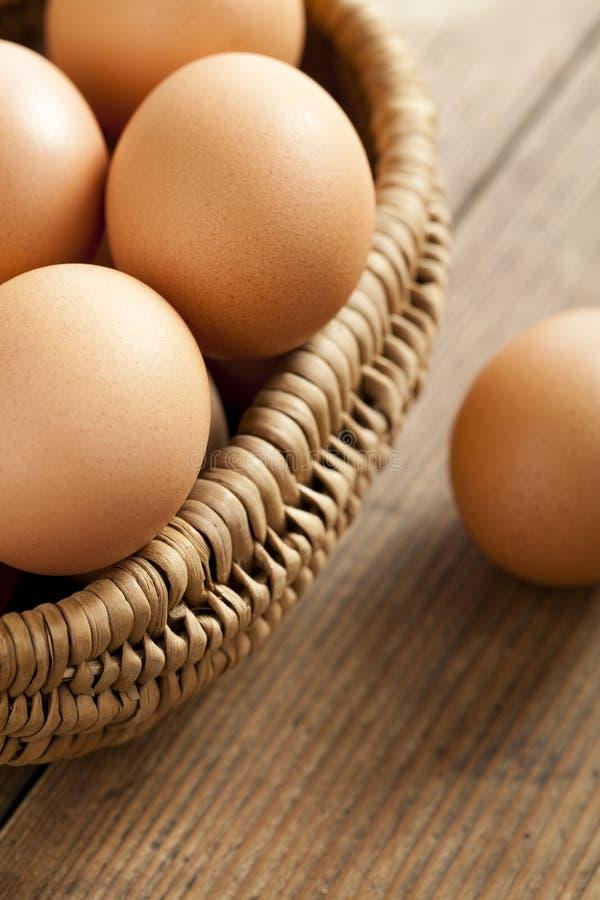 Download Easter egg in a basket stock photo. Image of basket, cloth - 24185942