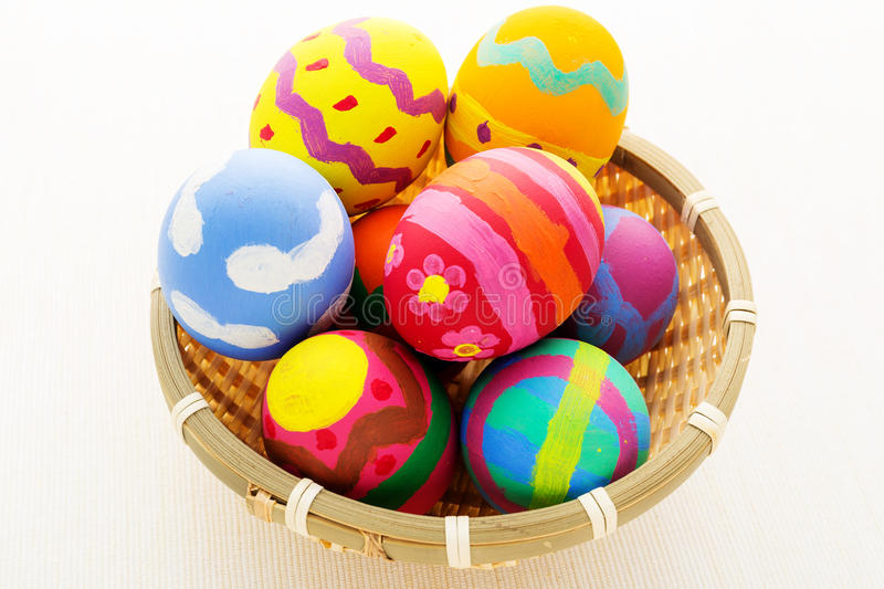 Download Easter egg in basket stock photo. Image of color, gift - 39616670