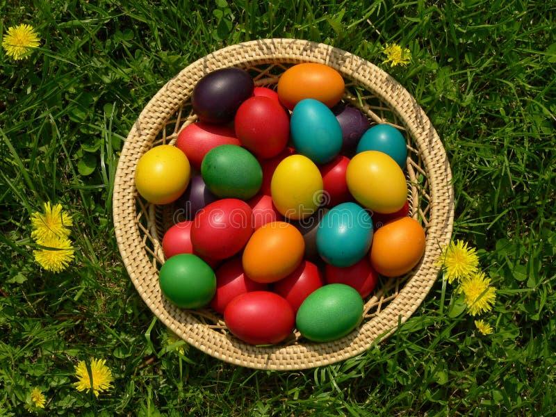Easter Egg Basket stock photography