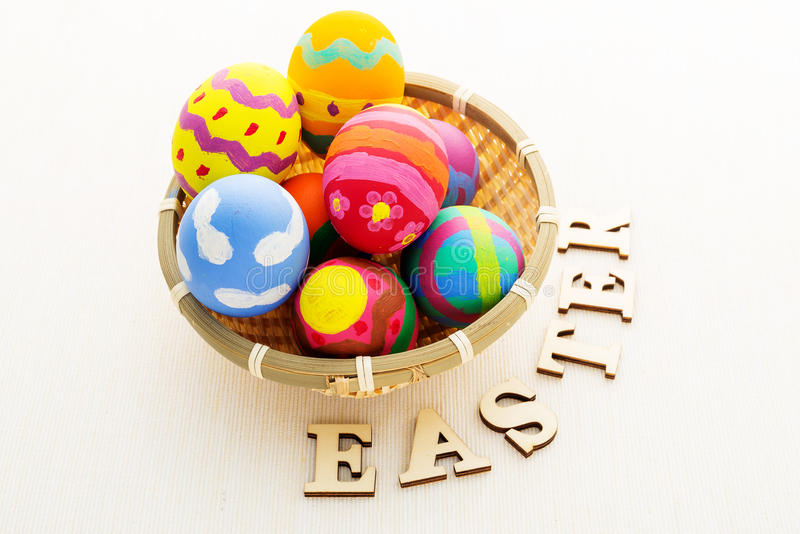 Download Easter Egg In Basket Stock Photo - Image: 39616672