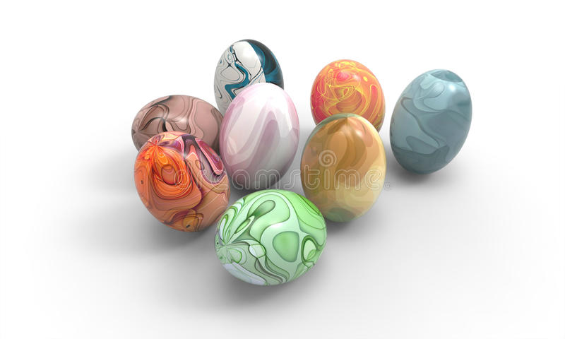 Easter egg of Beautiful art and a white background. / Food Easter Art Design royalty free illustration