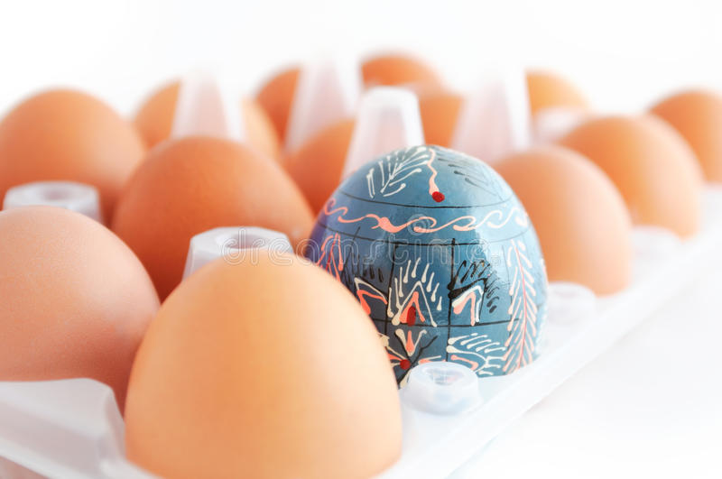 Easter Egg In The Box Stock Photography