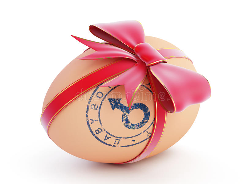 Download Easter Egg Boy Gift With Bow Stock Photo - Image: 29083550