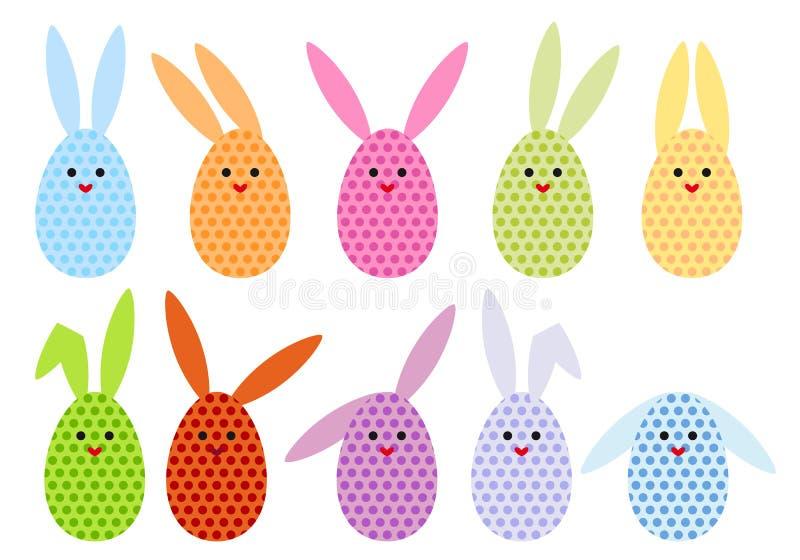 Download Easter egg bunnies, vector stock vector. Image of element - 23614705