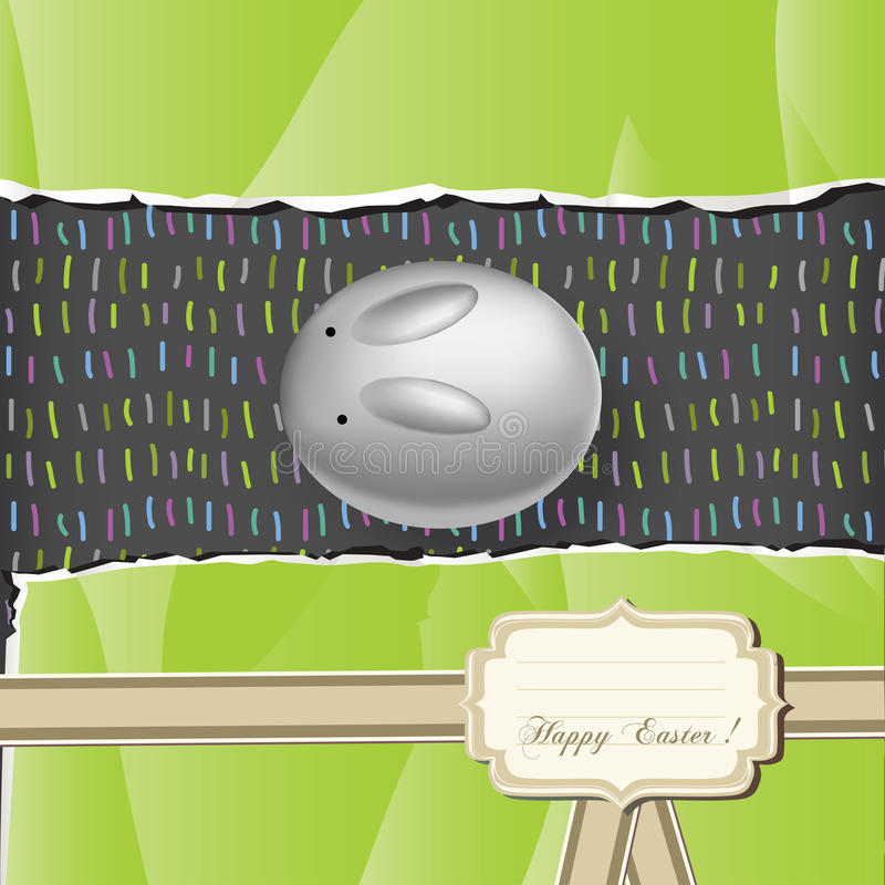 Easter egg bunny stock illustration