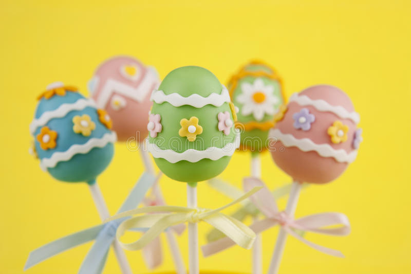 Easter egg cake pops royalty free stock image