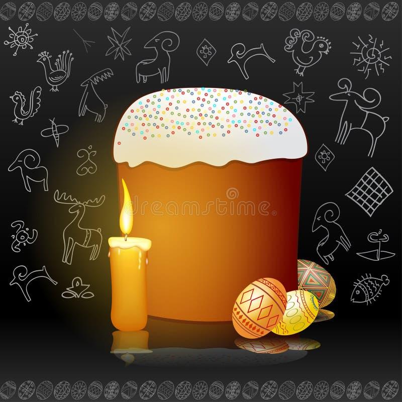 Easter egg candle background banner vector illustration