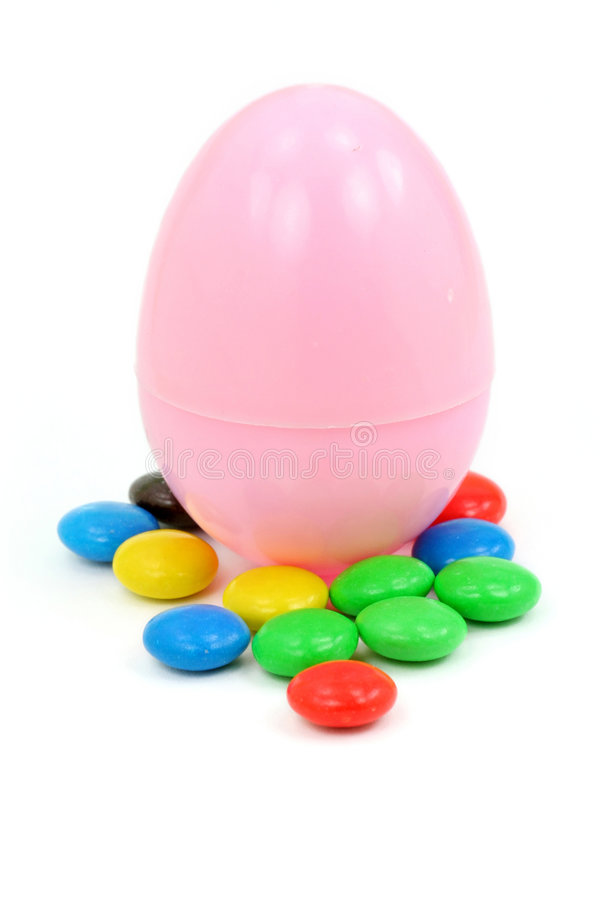 Easter egg and candy royalty free stock image