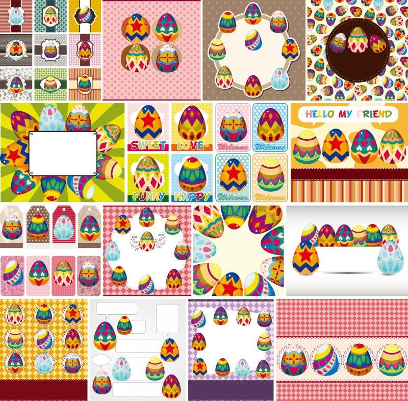Easter egg card stock illustration