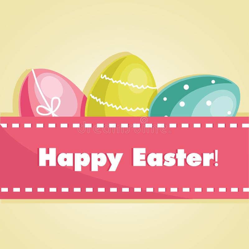 Easter egg card royalty free illustration