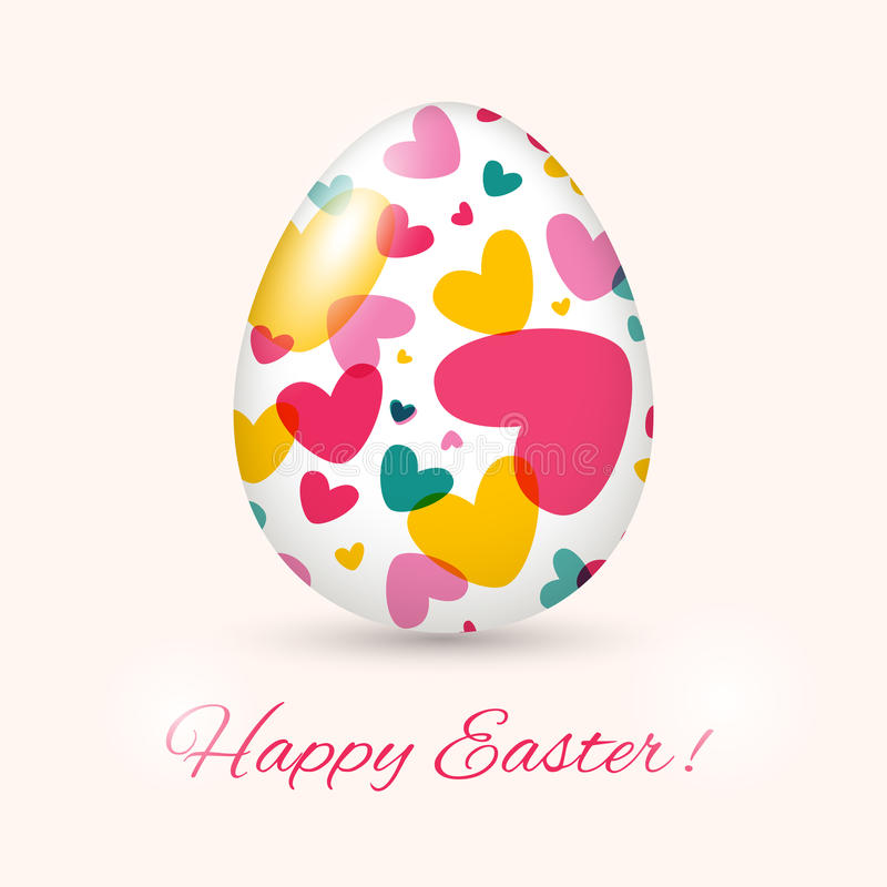 Easter Egg card. Vector illustration. Can be used as creating card, wedding invitation, birthday, valentine's day and other holiday and summer or spring stock illustration
