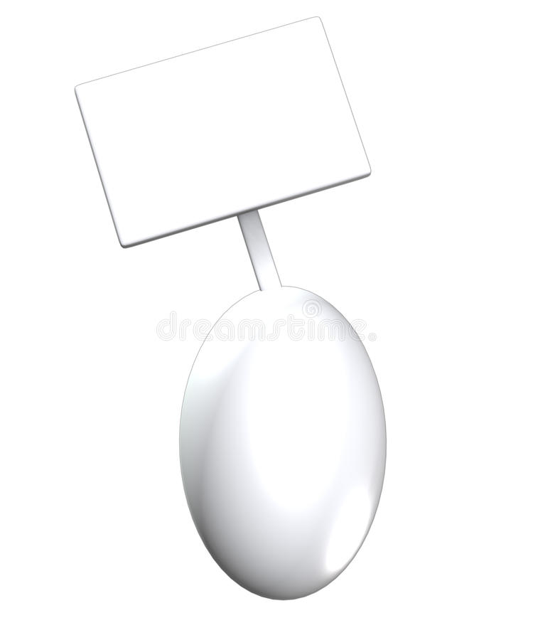 Egg With Blank Sign Stock Photography