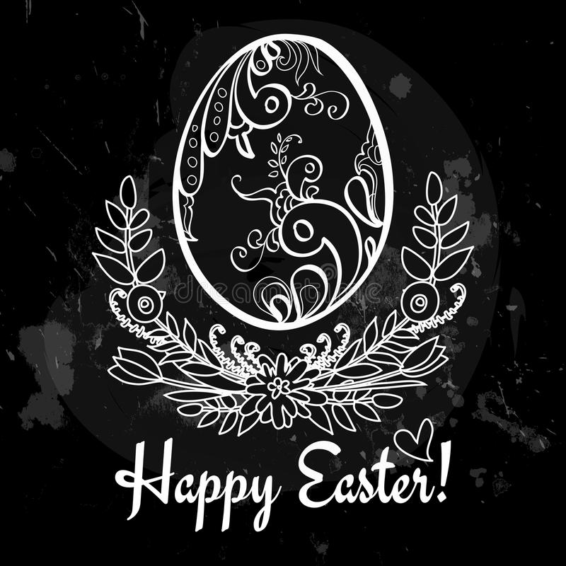 Download Easter Egg On The Chalkboard Stock Photography - Image: 38470142