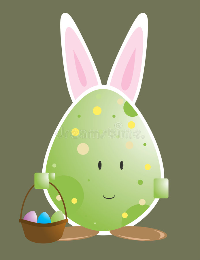 Free Easter Egg Character With Bunny Ears 1 Stock Photos - 8575503