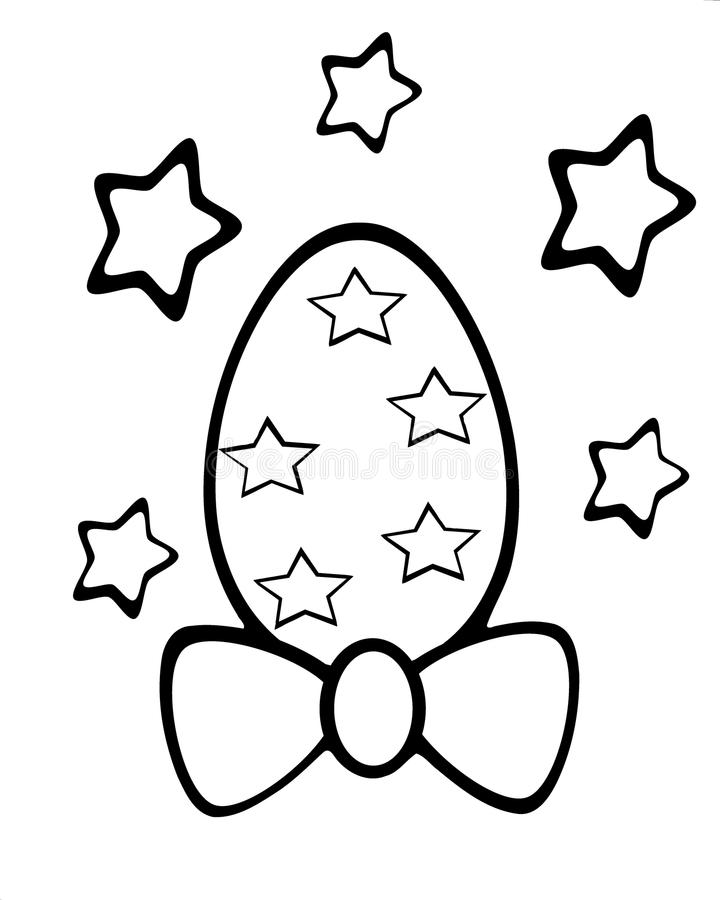 isolated Easter egg colorable with stars stock photos