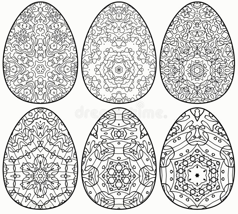 6 Easter Egg Coloring Book For Relax Stock Illustration - Illustration Of  Decor, Greeting: 167966611