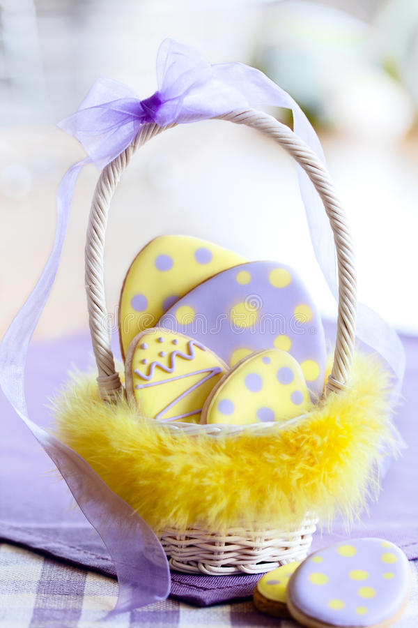 Easter egg cookies stock images