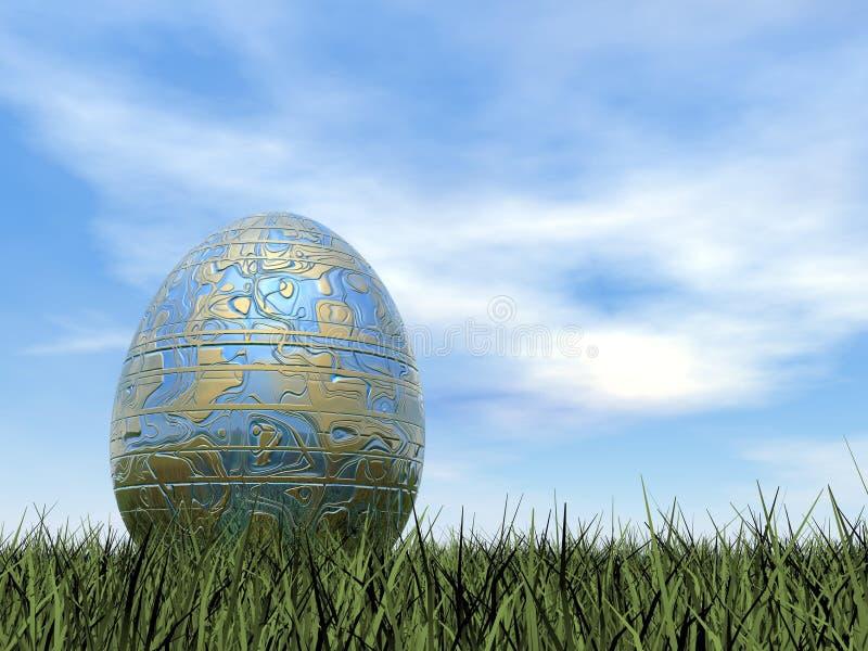 Easter egg - 3D render royalty free illustration