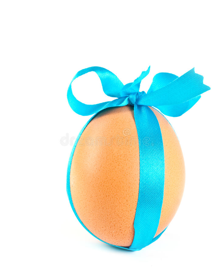 Free Easter Egg, Decorated A Blue Ribbon Stock Images - 19102554