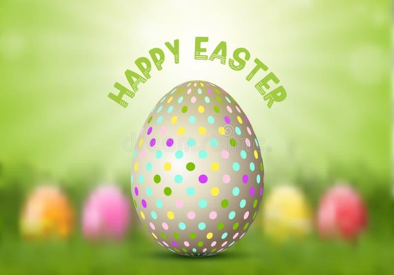 Easter Egg on defocussed background stock illustration