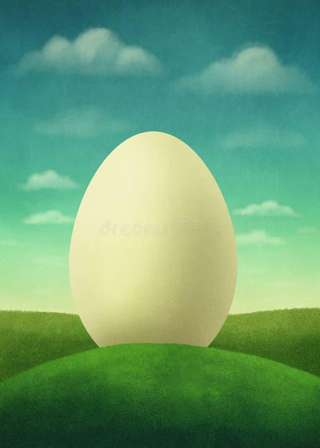 Easter egg in the field stock illustration