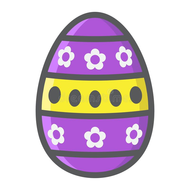 Easter egg filled outline icon, easter and holiday royalty free illustration