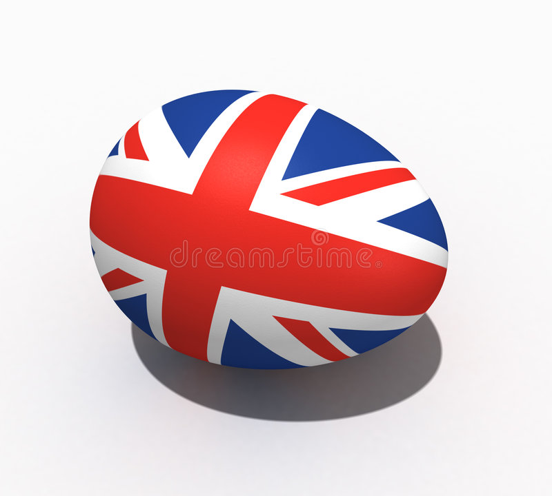 Easter egg - flag of Great Britain stock photos