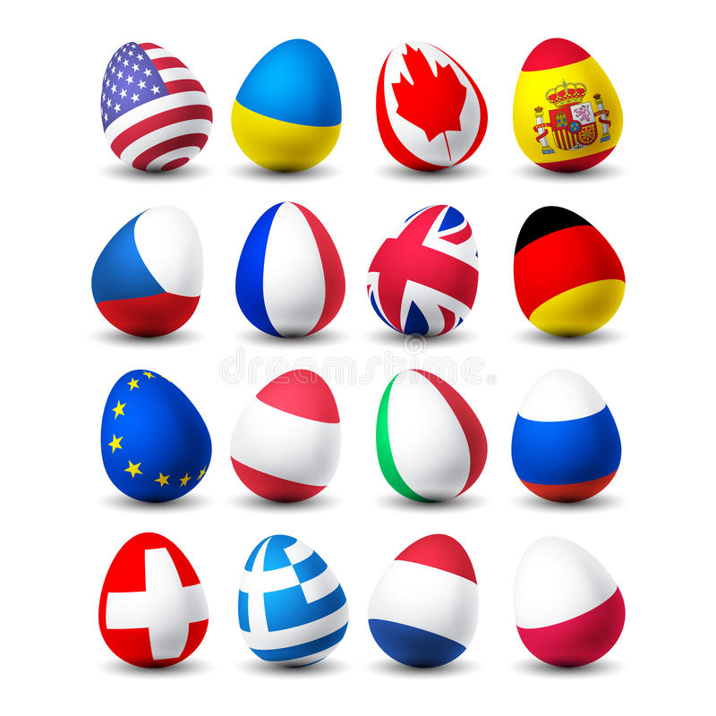 Easter Egg With Flag Stock Photo