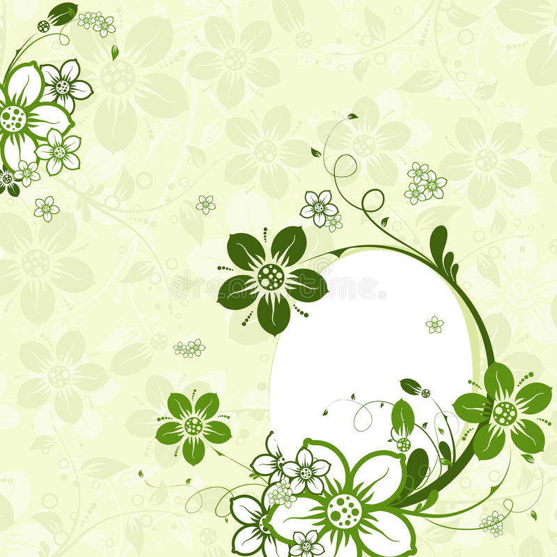 Easter egg with floral background, royalty free stock images
