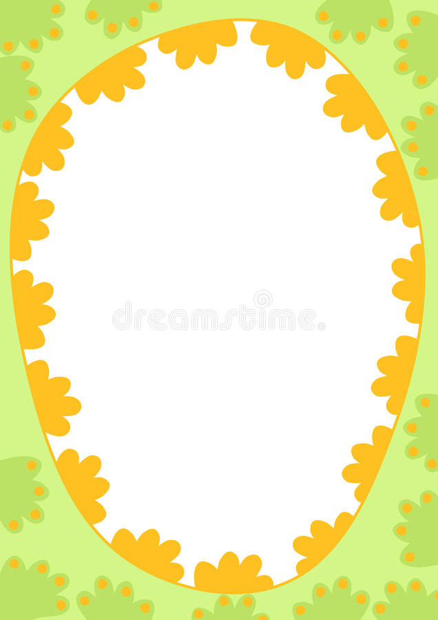 Download Easter Egg Frame Border stock illustration. Illustration of ovals - 37496553