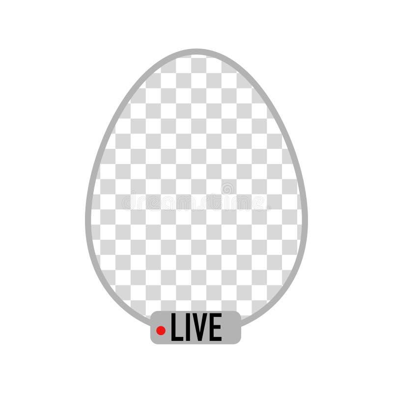 Easter egg frame social network live stream stock illustration