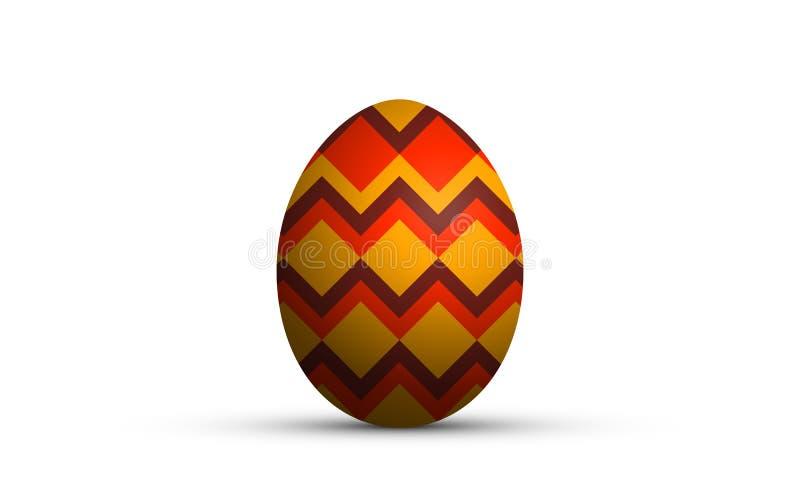 Easter egg in geometric style vector illustration