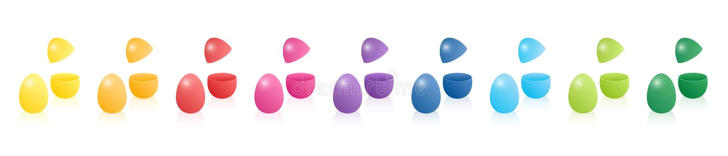 Easter Egg-Geschenkbox-offener geschlossener Spitzendeckel zwei Teile lizenzfreie abbildung