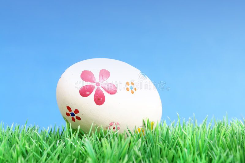 Download Easter egg in grass stock photo. Image of natural, easter - 4215226