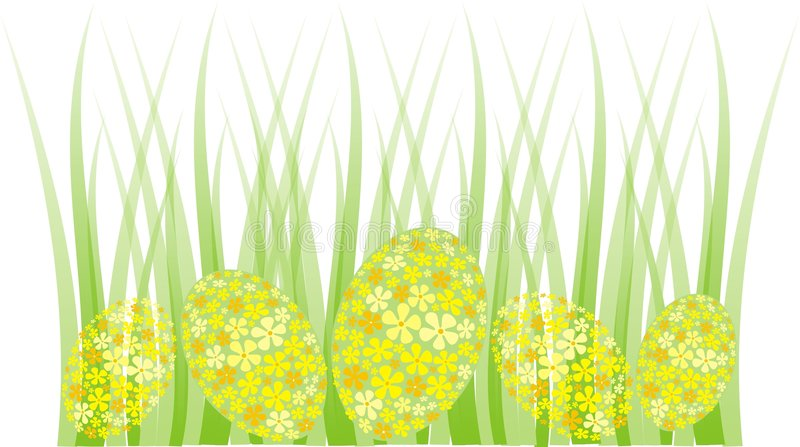 Download Easter Egg Grass Border Stock Vector Image Of Flowers