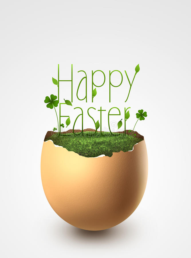 Easter egg on gray background royalty free stock photography