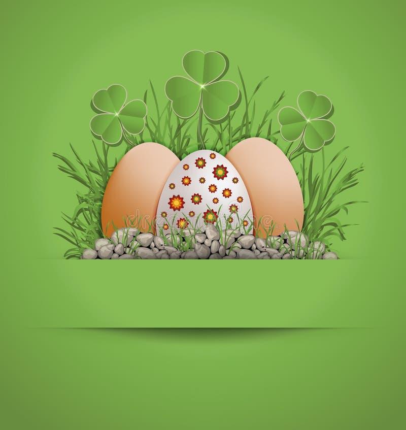Easter Egg green vector illustration