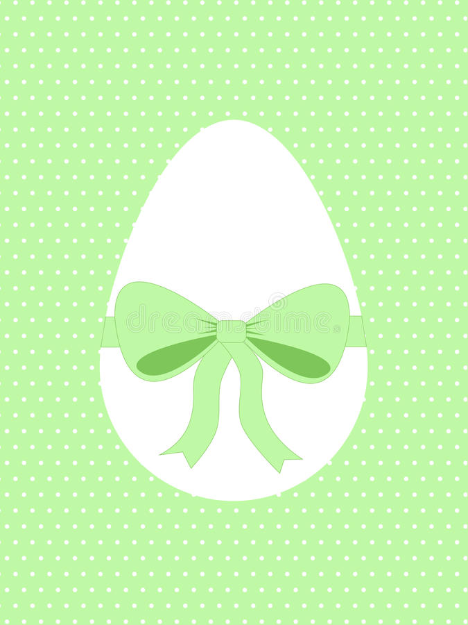 Easter egg with green ribbon stock photography