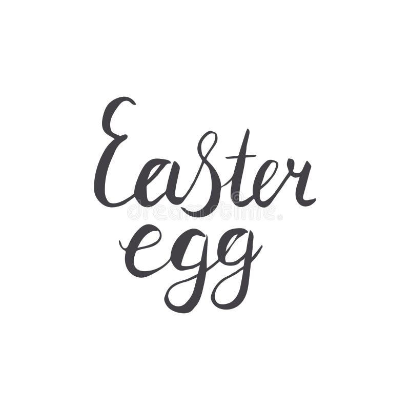 Easter egg hand lettering in black. stock illustration