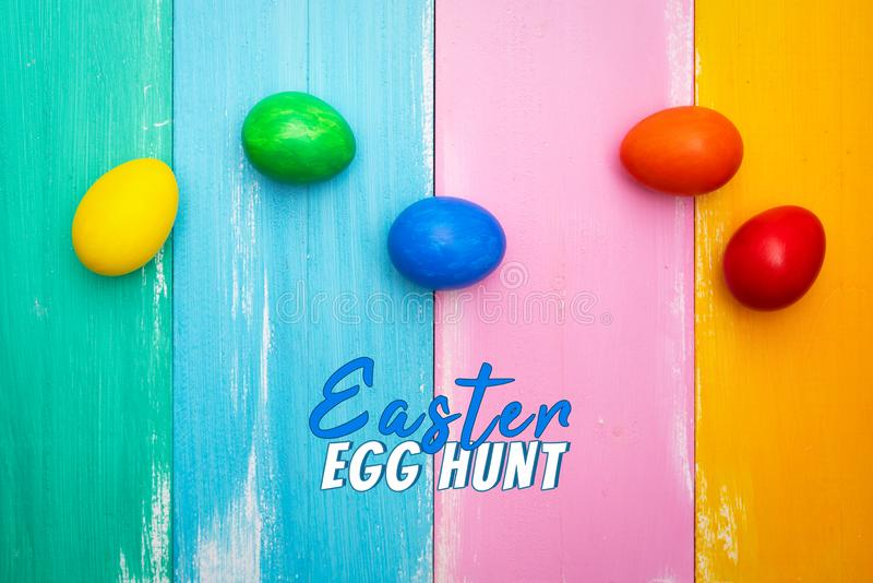 Easter egg, happy Easter sunday hunt holiday decorations stock photo