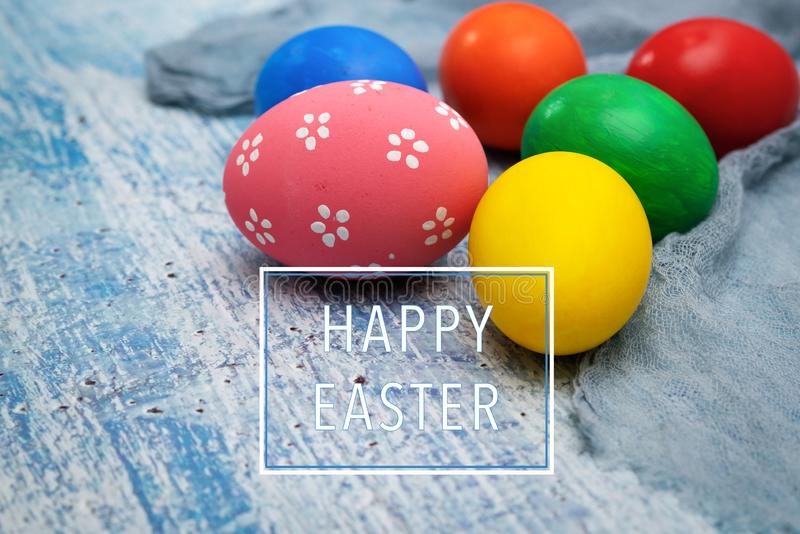 Easter egg, happy Easter sunday hunt holiday decorations stock photography