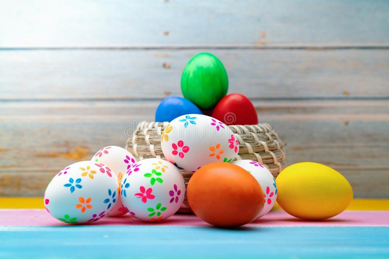 Easter egg, happy Easter sunday hunt holiday decorations stock photos