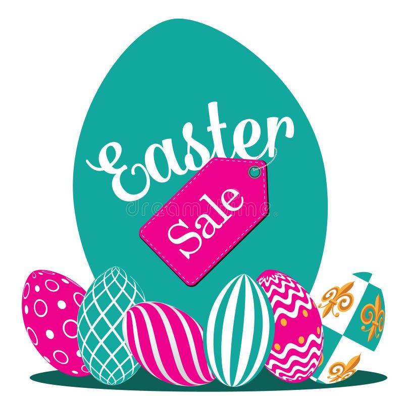 Download Easter Egg Hunt Background Flat Design EPS 10 Vector Stock