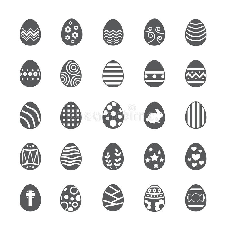 Easter egg icon set stock photography