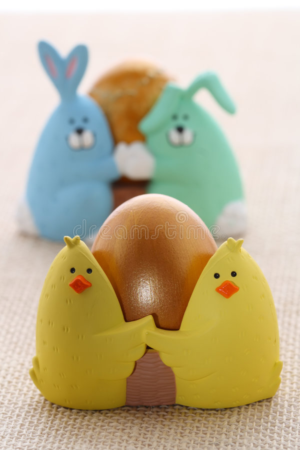 Free Easter Egg In Funny Chick Eggcup Royalty Free Stock Photography - 8081447