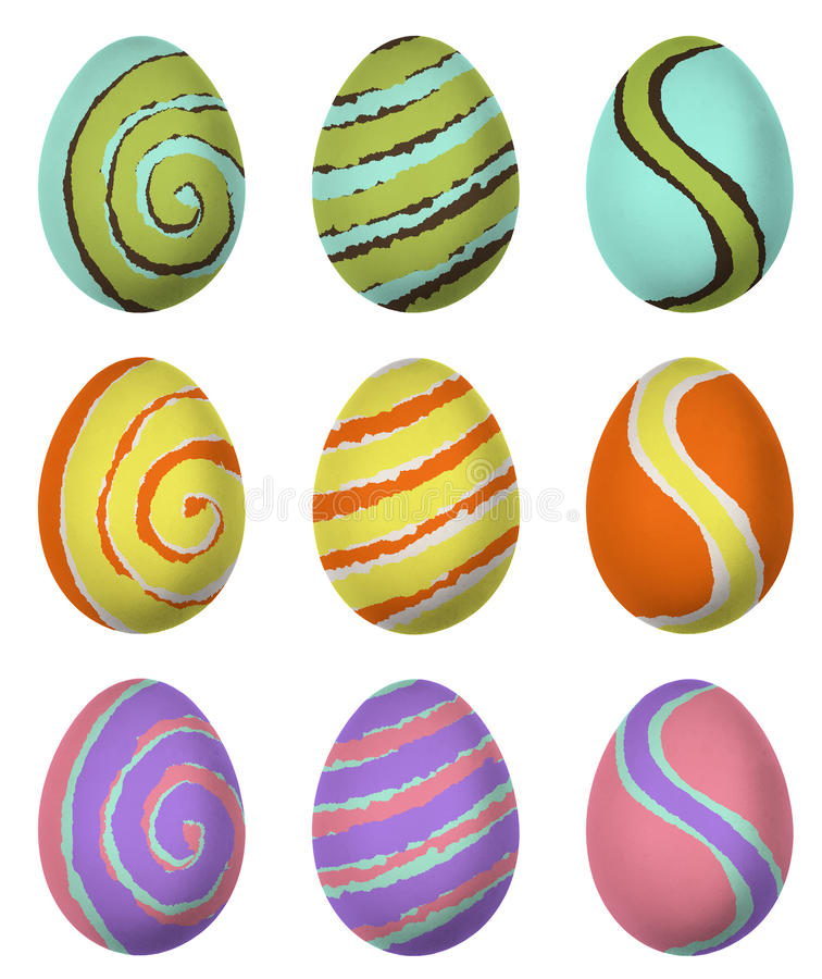 Easter egg isolated royalty free illustration