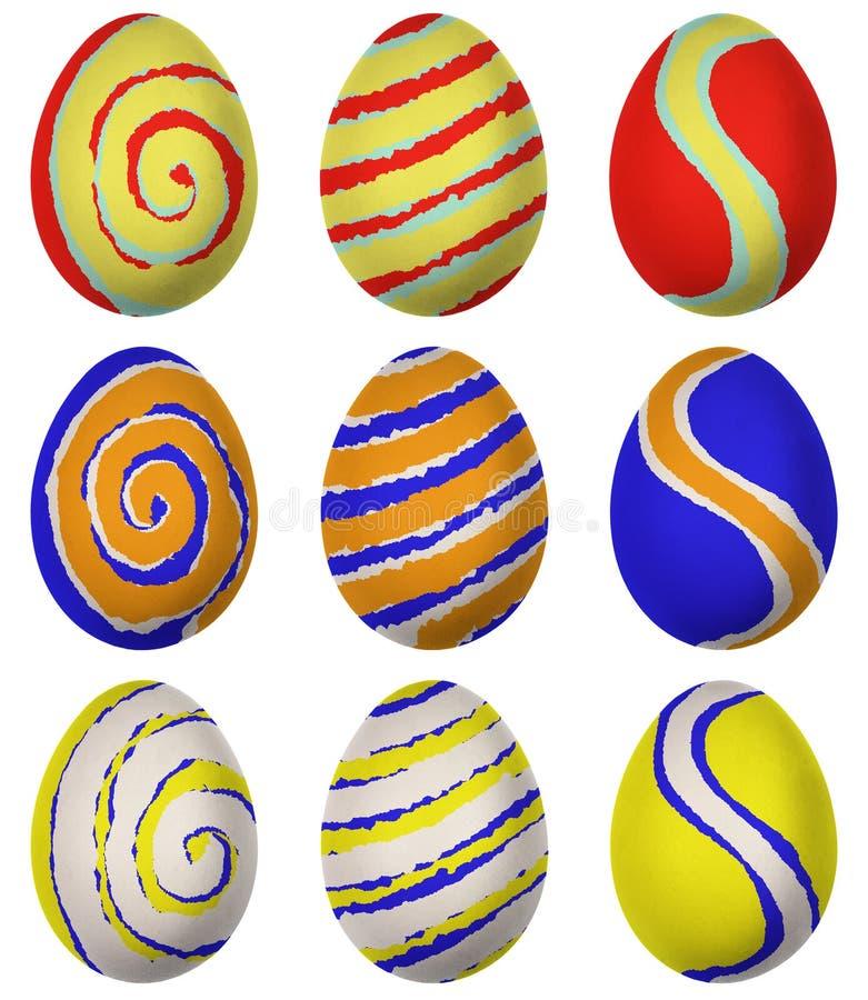 Easter egg isolated. On white background royalty free illustration