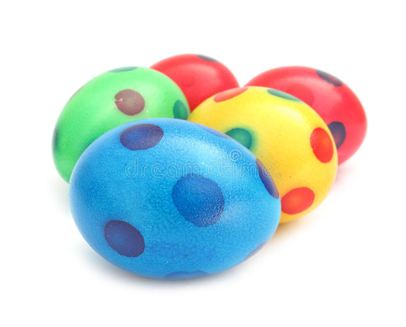 Easter Egg Lovely Colorful Painted With Spots Stock Photo